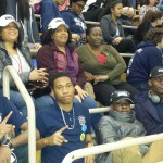 Jamaica College Robotics Team in the stands